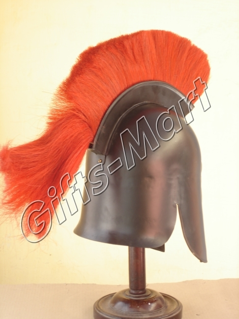 Trojan Helmet Medieval Troy Reenactment with Chin Strap Military Armour Costumes