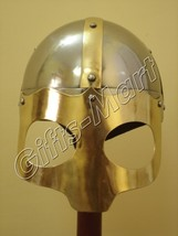Viking mask Deluxe Helmet Medieval helmets w/CHINStrap Collectible Xmas ... - $34.42