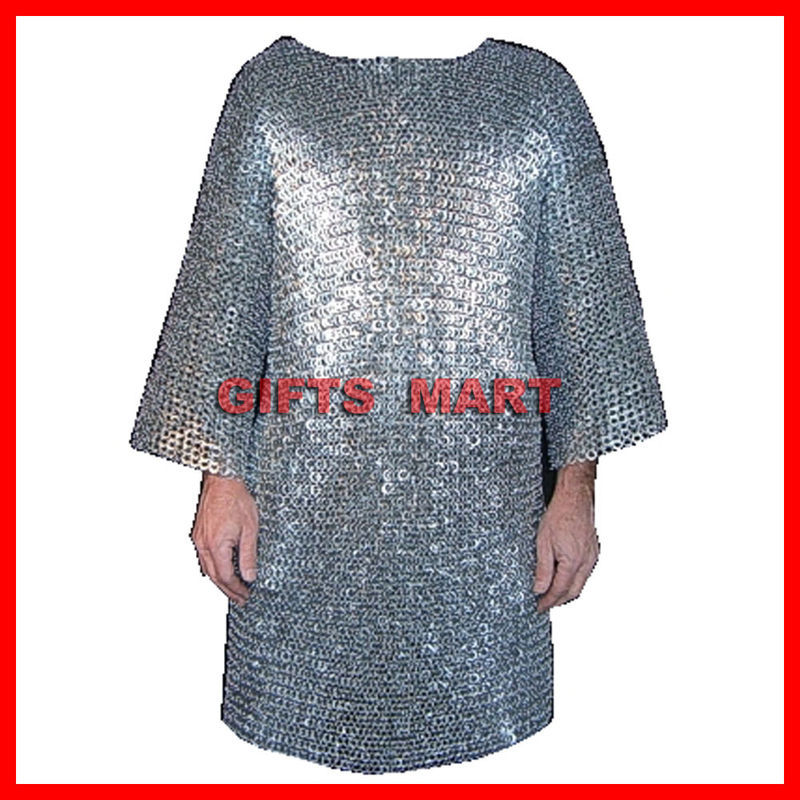 XXL RIVETED Aluminium chainmail shirt Medieval Chain Mail low price ARMOR Larp