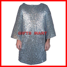 XXL RIVETED Aluminium chainmail shirt Medieval Chain Mail low price ARMOR Larp - $166.30