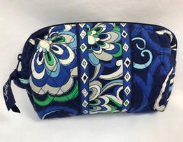 Vera Bradley Mediterranean Blue Make Up Bag Retired Print - $12.34