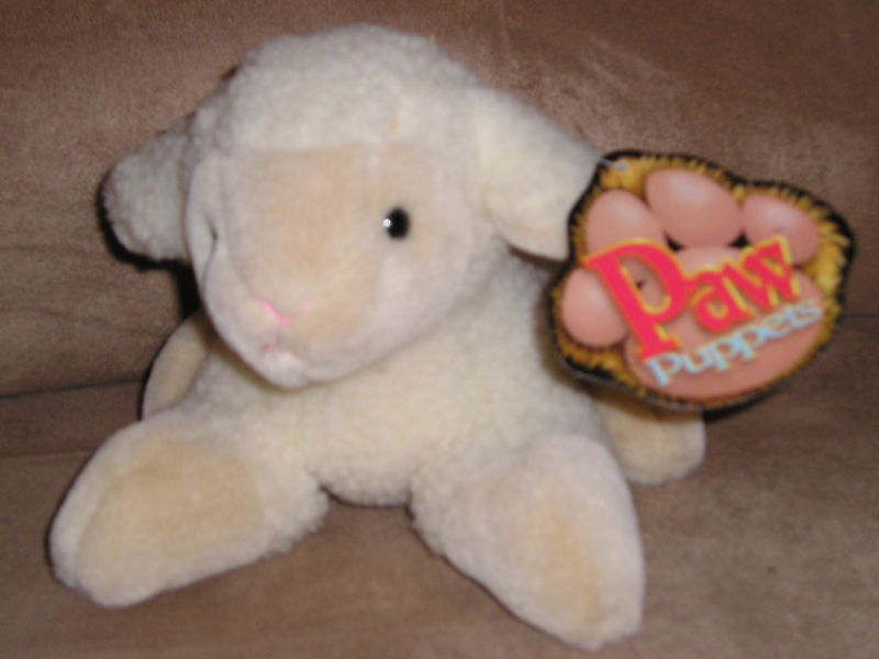 Primary image for NEW NWT CASCADE TOY LAMB HAND FINGER PUPPET FREE US SHIP