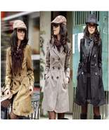Ladies Slim Double Breasted Trench Coats - $33.52
