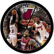 "Miami Heat Homemade 8"" NBA Wall Clock w/ Battery Included - $23.97"