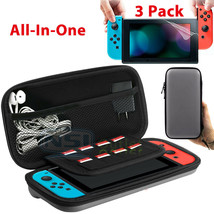 EVA Hard Protective Carrying Case Bag+ 3PCS Screen Protector For Nintend... - $35.90