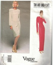 1708 Vogue Nähen Muster Misses Kleid Abend Tag Länge Tom Linda Platt Design - $17.80