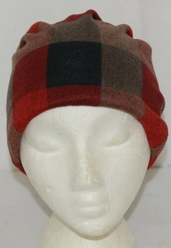 Howards Arianna Collection Buffalo Plaid Convertible Hat Adult Reds