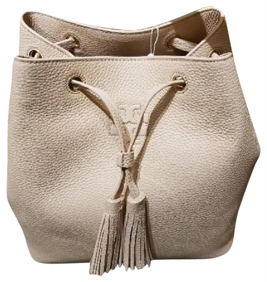 Primary image for Tory Burch  Thea Bucket Pebbled Sweet Melon Leather Shoulder Bag