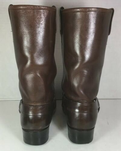 Harley Davidson Brown Leather Screaming Eagle Harness Boots Men's US M 9.5