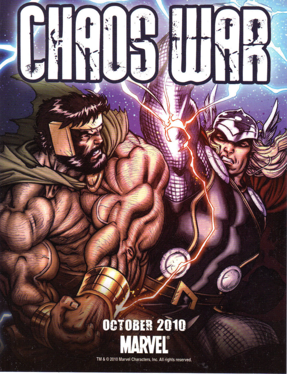 CHAOS WAR by MARVEL Promo Ad Card