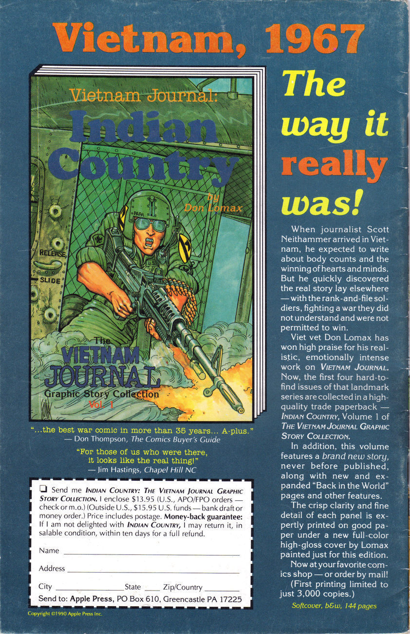 TET '68 Vietnam Journal:THE GATHERING STORM by Apple Comics