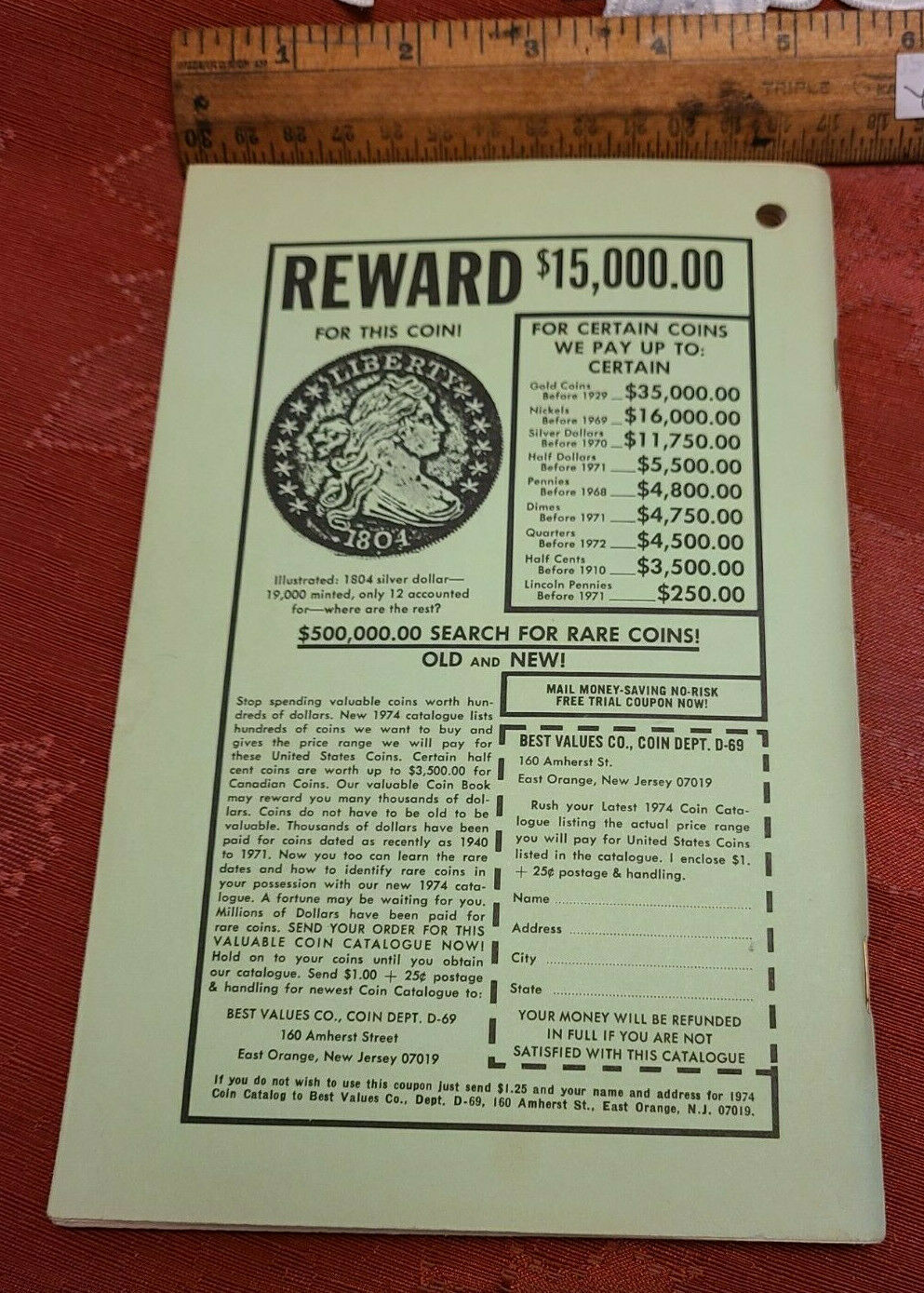 Vintage for Year 1974 - 149th Year Baer's Agricultural Almanac