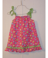 girls pillowcase dress size 4 in pink with gree... - $12.00