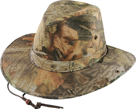 Henschel Cotton Polyester Safari Hat Cotton Lined Made In USA Timber Mos... - $52.00