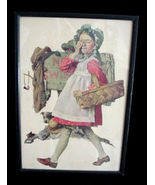 1920's Norman Rockwell Girl & No Swimming Sign Print - $24.50