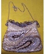Vintage Beaded Party Purse Evening Hand Bag New Condition Us - $30.00