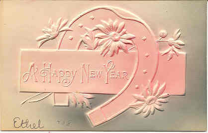 Wishing A Happy New Year 1908 vintage Post Card