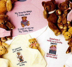 Teddy Talk In Waste Canvas Counted Cross Stitch Leisure Arts #696 Nos Bears - $2.95