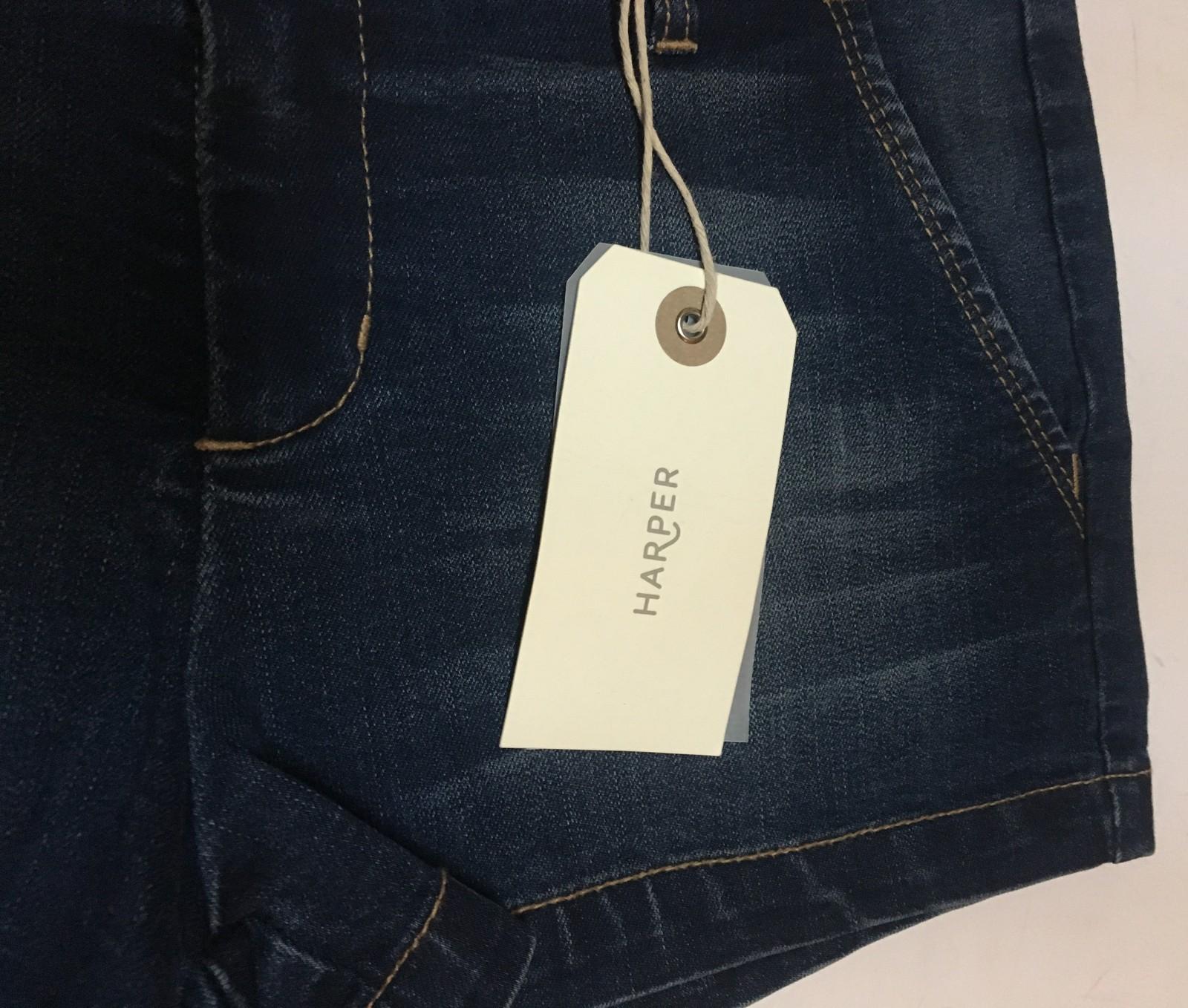 Harper Francesca's Blue Jean Mini Shorts Sz 29