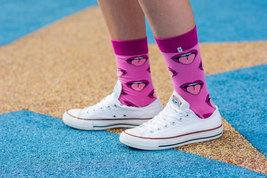 Mouth Tongue Pink Funny Socks - $8.40