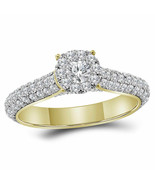 14kt Yellow Gold Round Diamond Solitaire Bridal Wedding Engagement Ring ... - £1,214.99 GBP