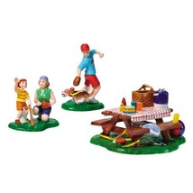 "The Original Snow Village Collection ""Summertime Family Picnic"" - $21.99"