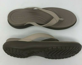Crocks Flip Flop Sandals Womens 11 Gray NWOB - $24.13