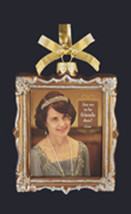 KURT S. ADLER DOWNTON ABBEY GLASS PICTURE FRAME ORNAMENT - CORA/VIOLET - $19.88