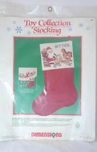 Toy Collection Stocking Cross Stitch Kit QUICK-TO-FINISH Barbara Mock 1989 - $11.13