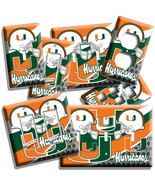 MIAMI HURRICANES UNIVERSITY COLLEGE FOOTBALL LIGHT SWITCH OUTLET PLATE A... - $9.99+