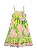 LILLY PULITZER for Target Bright Neon Pink Flamingo Tank Maxi Dress 18 M... - $28.69