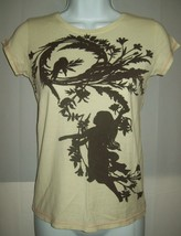 Old Navy Girls Top Sz Large Silhouette Bird Girl in Tree T-Shirt School Casual - $17.59