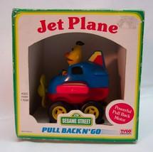 VINTAGE Sesame Street BERT PULL BACK N' GO JET PLANE TOY TYCO PRESCHOOL ... - $16.34