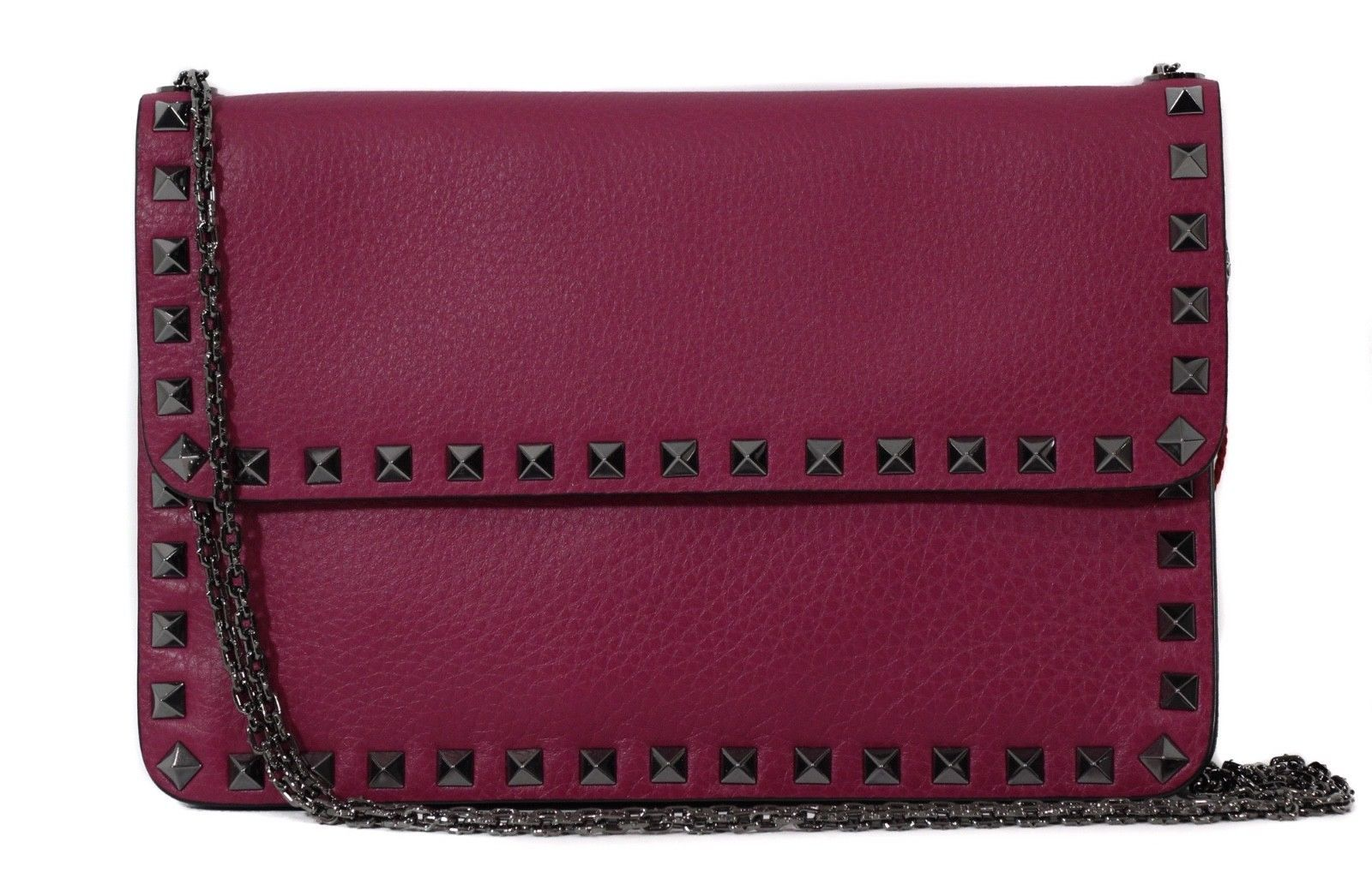 Primary image for NEW VALENTINO Garavani Rockstud Leather Clutch Crossbody Bag