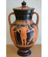 Hector Priamos Ekave -Red Figure Amphora Vase-Munich Museum Replica - $1,467.96 CAD