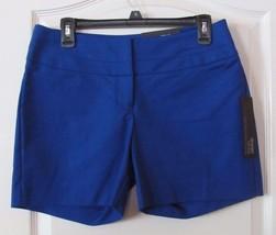 Apt. 9® Modern Fit City Wide Waist Shorts Hypnotic Blue Women's Sz 6 NWT... - $23.66