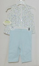 SnoPea Two Piece Flowered Sleeveless Shirt Light Blue Pants Size 9 months image 2