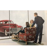 Print Ad Red Dodge Car Lady Red Chair Window Shopping 1948 - $9.97
