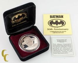 """Batman The Joker """" Dc Comics Le 50th Anniversaire 1 OZ Argent Rond W / COA - $114.93"""