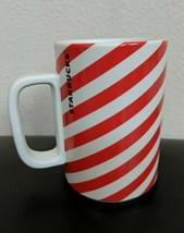 Starbucks Holiday 2018 Ceramic Mug Candy Cane Stripe 12oz NEW - $20.48