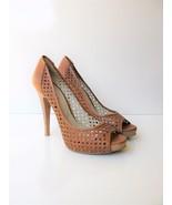 Platform Pumps Coste Viola Italian Laser Cut Peep Toe Stiletto Heels  40... - $47.52