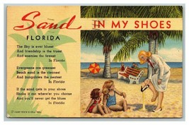Postcard FL Florida Sand in My Shoes Poem Curt Teich & Co. Inc Posted 1948 - $8.41
