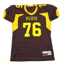 VINTAGE Vilseck Falcons Football Jersey Size Extra Large Red Yellow High... - $36.83
