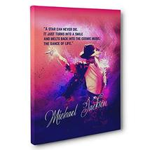 Michael Jackson Motivational Quote Canvas Wall Art - $34.65