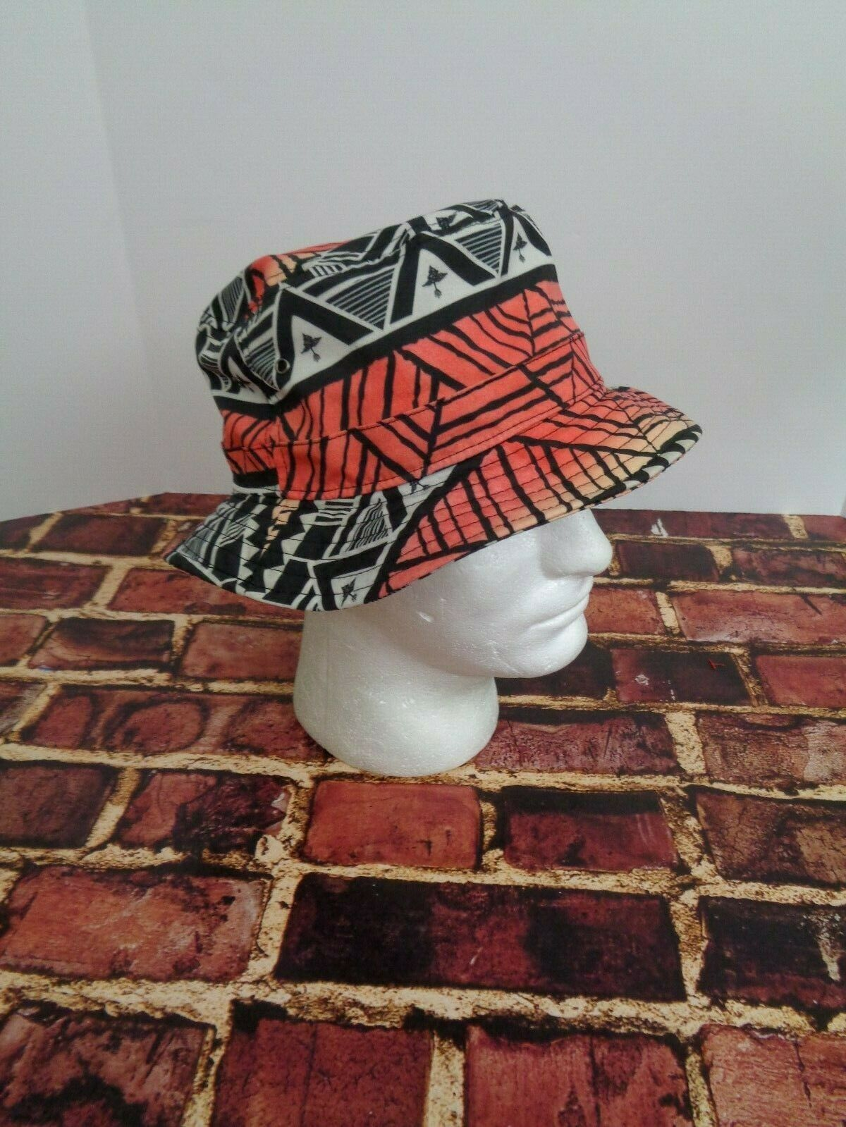 LRG Lifted Research Group FLOPPY Cap Hat Sun Fashion Black Orange Red True Heads image 3
