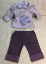 AG04 American Girl Doll Clothes Pink Shirt - Short Purple Pants 3480AMW - $13.22