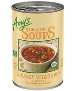 Amy's Organic Low Fat Chunky Vegetable Soup 14.3 oz ( Pack of 12 ) - $54.44