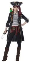 High Seas Captain Halloween Costume Girl Child L 10- 12 Black - $57.94