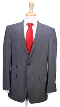 * RICHARD JAMES * Savile Row Gray Pinstripe 2-Btn Wool Slim Fit Suit 40R - $346.50