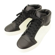 Chanel 17P Leather x Rubber High-top Sneakers G32720 Size 37 White x Bla... - $1,181.50